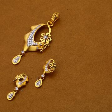 916 Gold Fancy Pendant Set FPS164