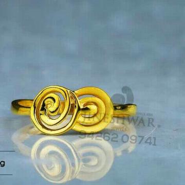 916 Simple Gold Casting ladies Ring LRG -0618