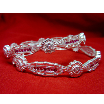 Silver 925 rani color diamond bangels for regular use sk925-12