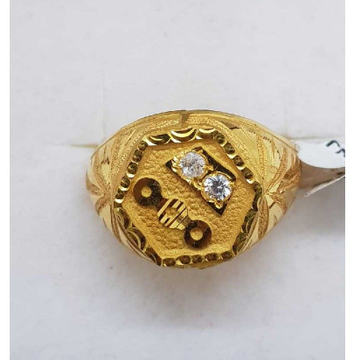 916 Gold studded gents ring SJ-GR/26