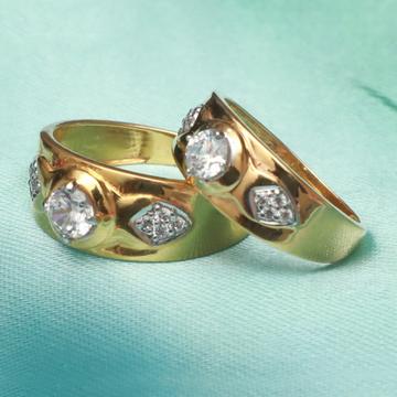 22kt gold fancy couple ring pj-r009