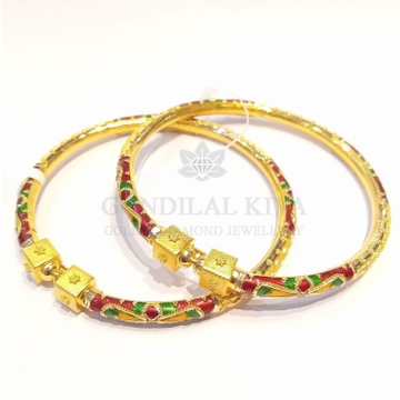 18kt gold bangle gbg61