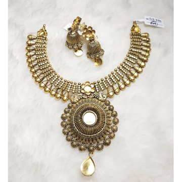 916 Gold Antique Wedding Necklace Set KG-N07