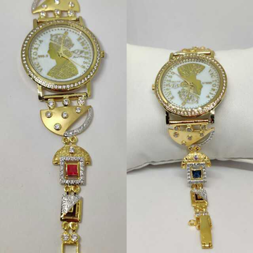 18k Ladies Fancy Gold Watch G-2227