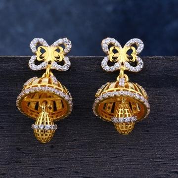 22 carat gold jummar casting earrings rh-le479