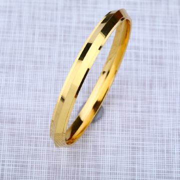 Mens 916 Plain Gold Punjabi Kada Bracelet-MPKB09
