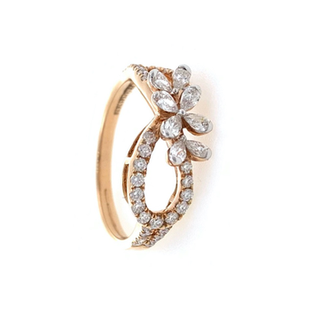Slatko Diamond Ring in 18k Rose Gold 0LR22