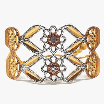 One gram gold forming fancy flower bracelet mga - bge0089