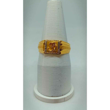 916 Gold Casual Wear Gents Ring