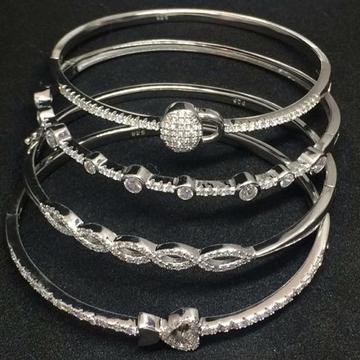 925 Sterling silver bracelet kada ladies