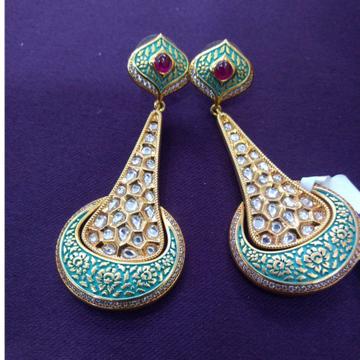 kundan earrings,minakari earrings