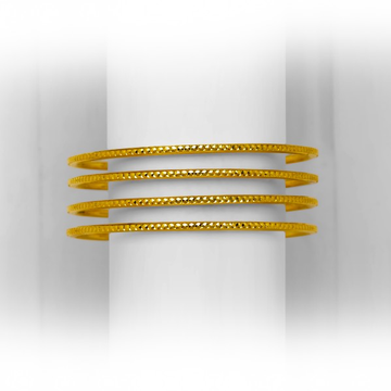 GOLD SIMPLE DESIGNED COPPER KADLI BANGLE