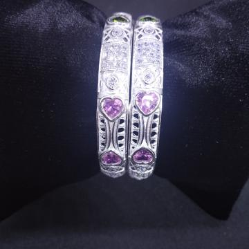 micro bangle pink stone by