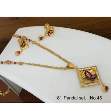 22 carat gold ladies square pendal mangalsutra RH-MS310
