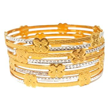 One gram gold plated 4 piece bangles mga - bge0409