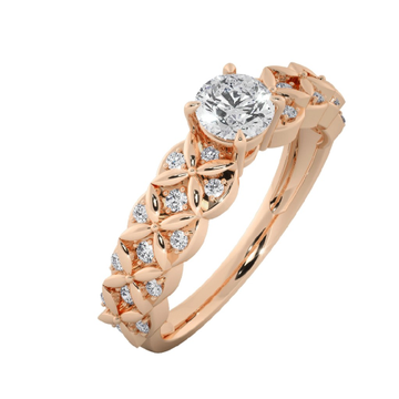 18k rose gold ring by