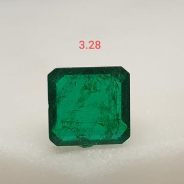 3.28ct square green emerald-panna VG-E03