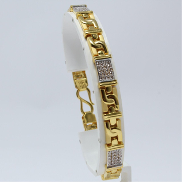 22KT Gold CZ Designer Gents Lucky KV-GB002
