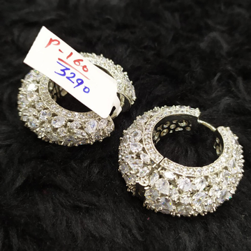 CZ diamond earrings#207