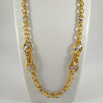 22 k gold fancy chain. nj-c0284