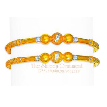 916 Gold Simple Modhiya Copper Kadali - 0013