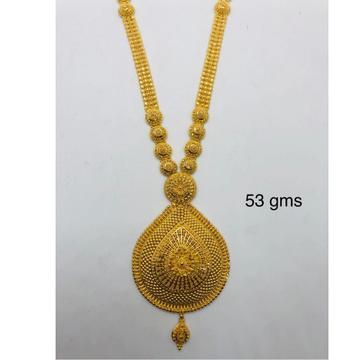 916 CZ Gold Stately Long Necklace