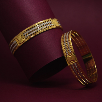 916 Hallmarked Fancy Bangles by Simandhar Jewellers