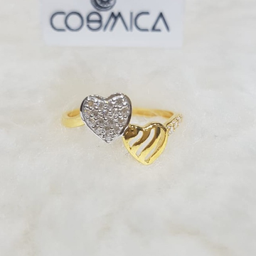 916 Gold CZ Heart Design Ring GC-R01