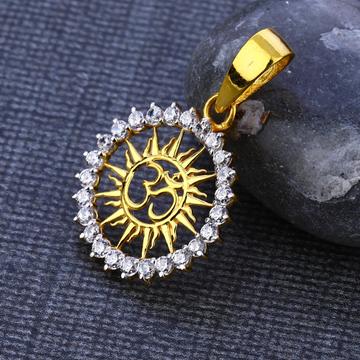 22kt cz gold exclusive god pendant gp119