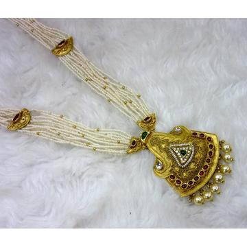 gold hm916 moti chadar long antique jadtar necklace set
