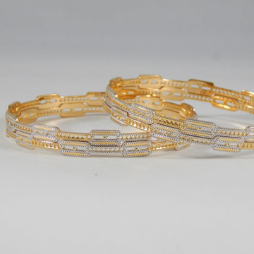 22KT Yellow Gold Desirous Charm Bangles  for Women
