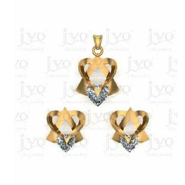 916 Gold Fancy Pendant Set