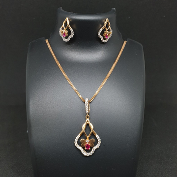 18k Rose Gold Pendant Set
