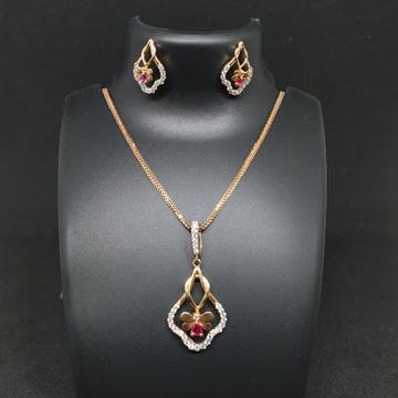 18k Rose Gold Pendant Set by