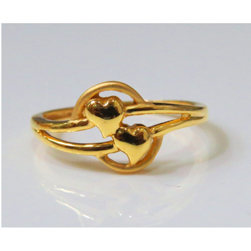 22kt Gold Plain Casting Ladies Ring