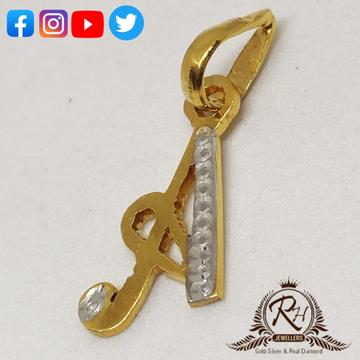 22 carat gold latest daimond letter pendal RH-PL566