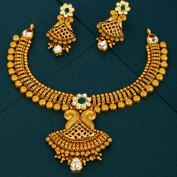 916 gold Antique Bridal Gold Necklace Set