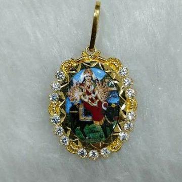 916 Antique Gold Visat/Verai Maa Photo Pendant