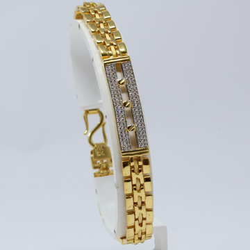 916 Gold CZ Gents Lucky KV-GB004