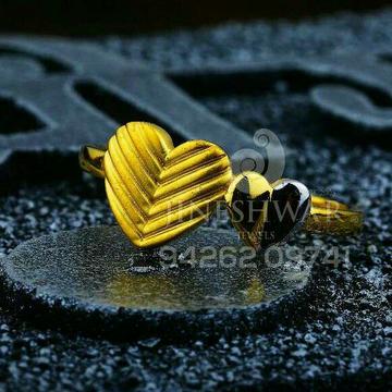 916 Fancy Plain Casting Heart Shape Ladies Ring LRG -0562