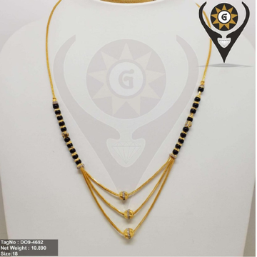 22KT Gold 3Layer Mangalsutra  by Parshwa Jewellers