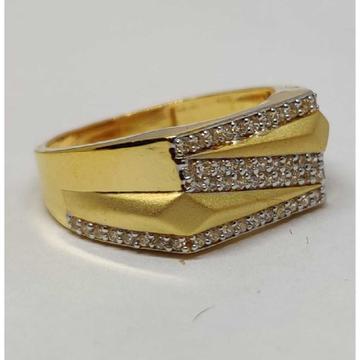 22k Gents Fancy Gold Ring Gr-28598