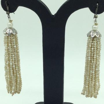 White Opal Stones Ear Chandelier HangingsJER0019