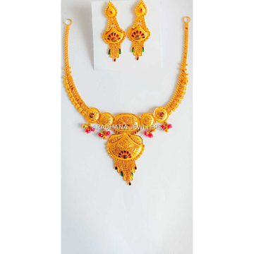 916 Gold Moti Set