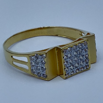 916 executive fancy cz gold gents ring