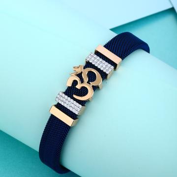 18KT Rose Hallmark Gold Om design Breacelet