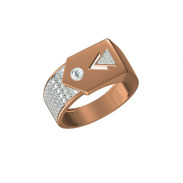 Fancy Rose Gold Designer 18Kt Men's Wear Ring-31325