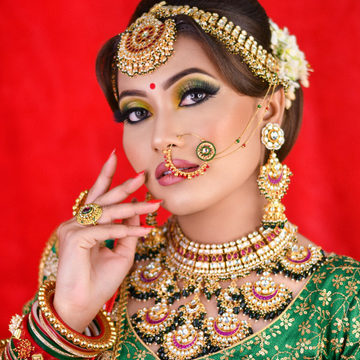 gold plated pachhi kundan pink and green nackless