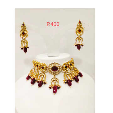 Kundan & rubby pearl fancy chokers necklace 1184