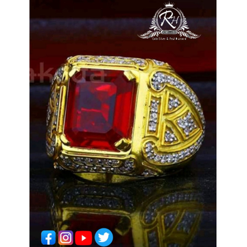 22 carat gold red daimond rings RH-GR385